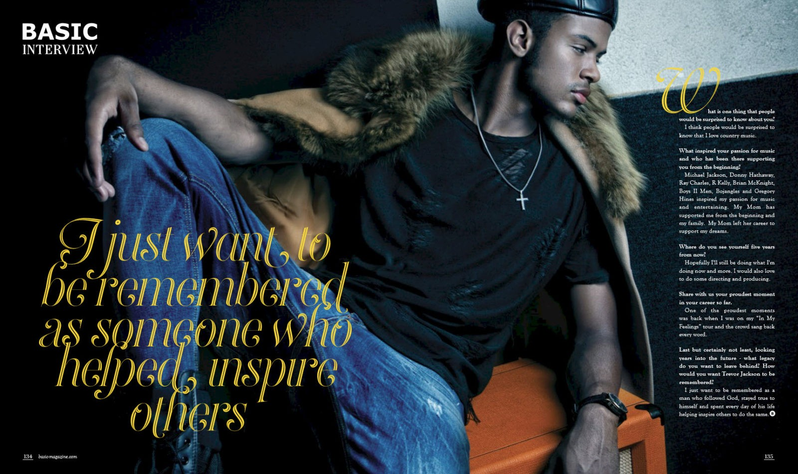trevor jackson on the block basic magazine you see yourself five years from now hopefully i ll still be doing what i m doing now and more i would also love to do some directing and producing