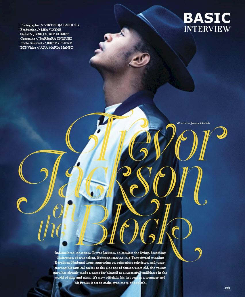 Trevor Jackson on the Block