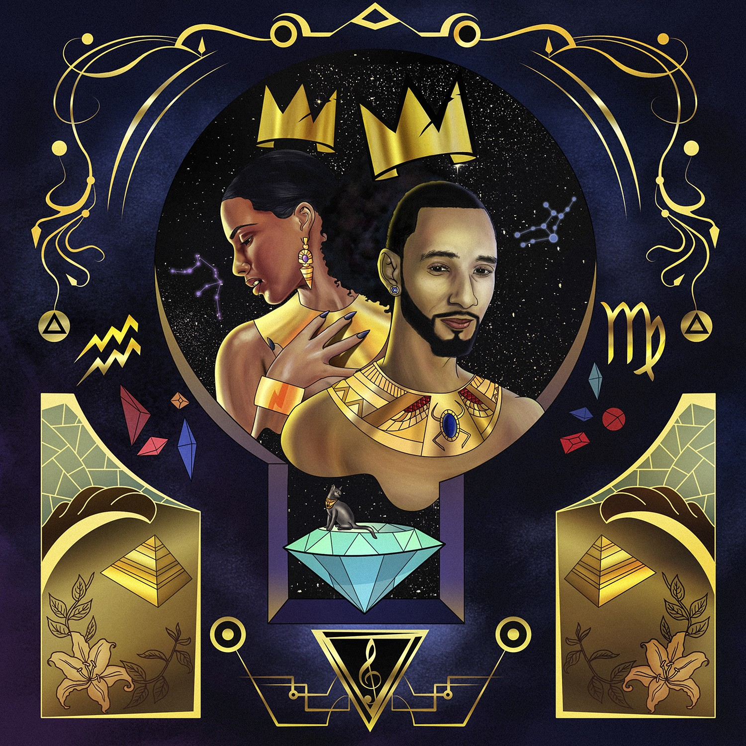 king-swizz-and-queen-alicia-illustration-basic-magazine