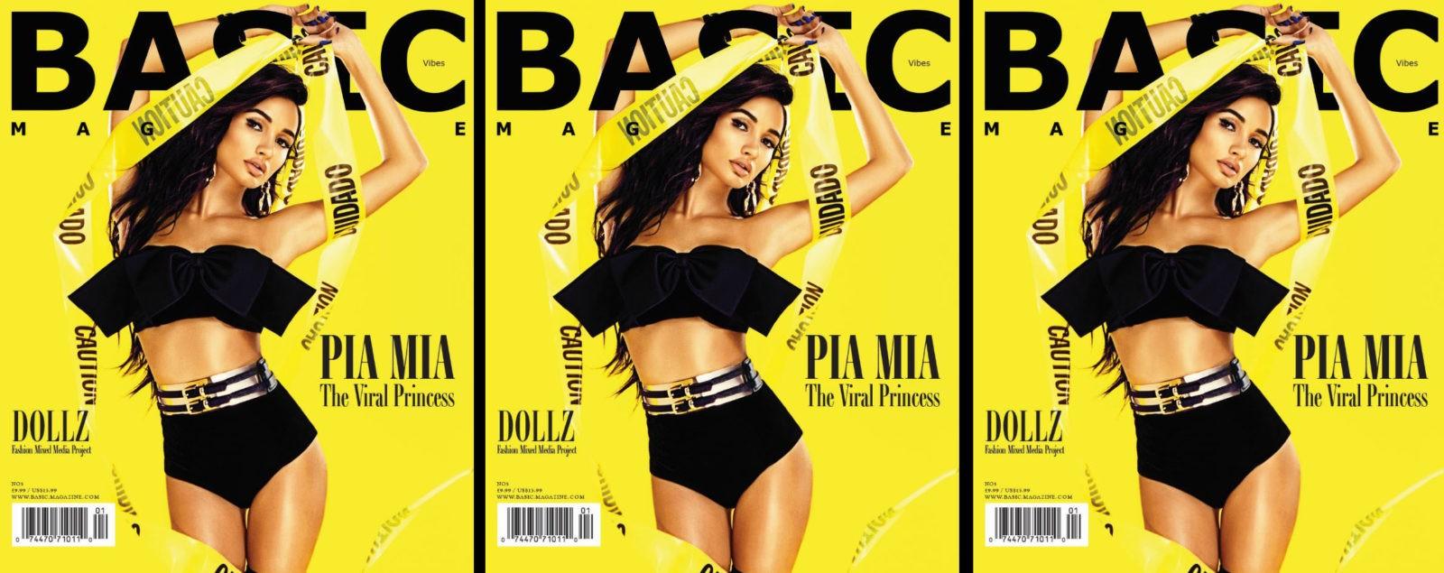 PIA MIA BASIC Cover Star #VIBEZissue