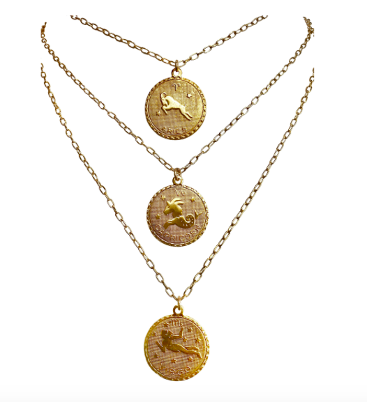 1. Martha Calvo – Zodiac Necklace $88